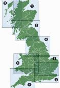 5. Ordnance Survey Road Map East Midlands & East Anglia including London - Wall Map